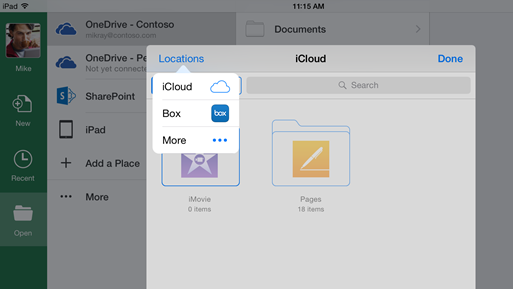 Office on iPad/iPhone devices Now Working without OneDrive