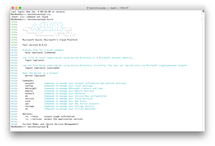 Installing Azure CLI on a Mac OS X