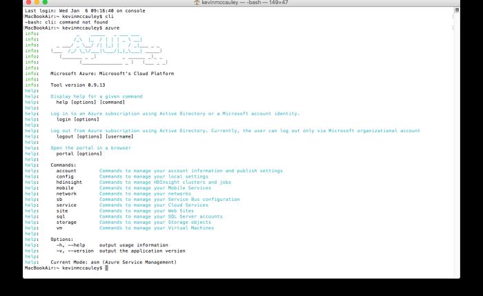 Installing Azure CLI on a Mac OSX